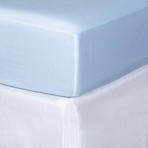 Egipska bawełna 300 splotów - Jasnoniebieski - Prześcieradło z gumką