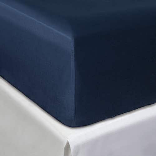 Egipska bawełna 300 splotów - Granatowy - Prześcieradło z gumką