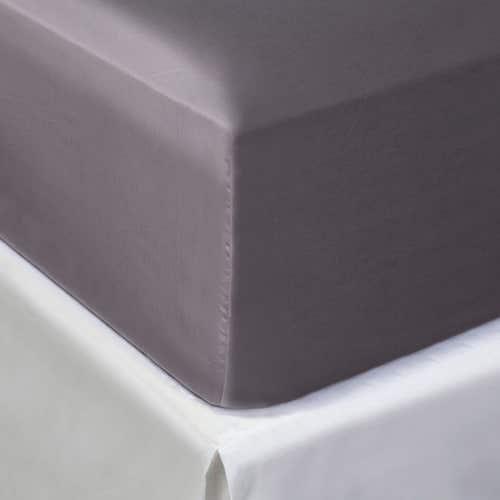 Egipska bawełna 300 splotów - Szarobrązowy - Prześcieradło z gumką
