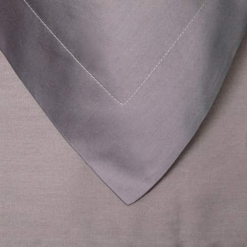 Egipska bawełna 300 splotów - Szarobrązowy - Poszewka na poduszkę