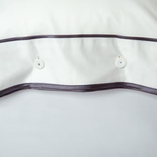Kolekcja Monaco Egipska bawełna 550 splotów - Grafitowa tasiemka - Poszewka z guzikami 40x40cm