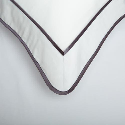 Kolekcja Monaco Egipska bawełna 550 splotów - Grafitowa tasiemka - Poszewka bez guzików