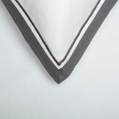 Kolekcja Bologne 300 splotów - Szare zdobienie - Poszewka na poduszkę