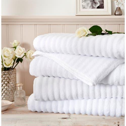 Ręcznik prążkowany Mont Blanc bawełna Zero Twist